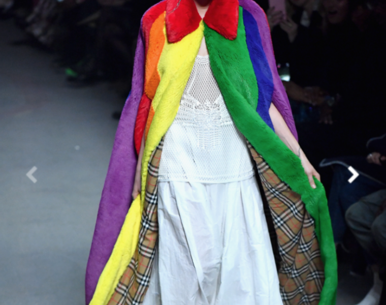 Christopher Bailey presents his last collection for Burberry