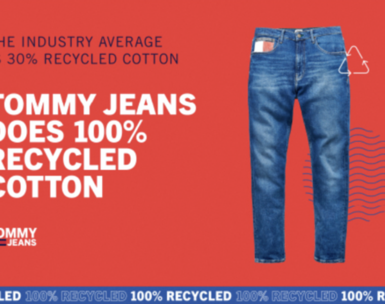 Tommy Jeans does 100% recycled denim styles